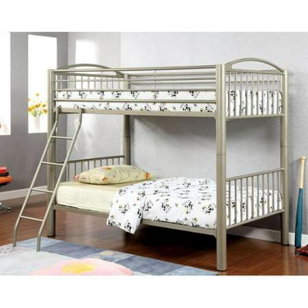 Furniture Of America  Olivane Modern Metallic Gold Twin Twin Separable Bunk Bed