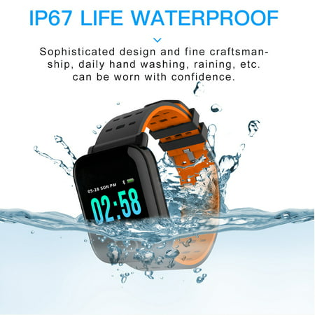Smart Watch Fitness Tracker Smart Wristband with Heart Rate Monitor Blood Pressure Activity Fitness Watch for Women Men - image 10 of 11