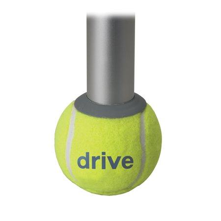 Drive Medical Walker Rear Tennis Ball Glides with Tennis Ball Can, 1 Pair