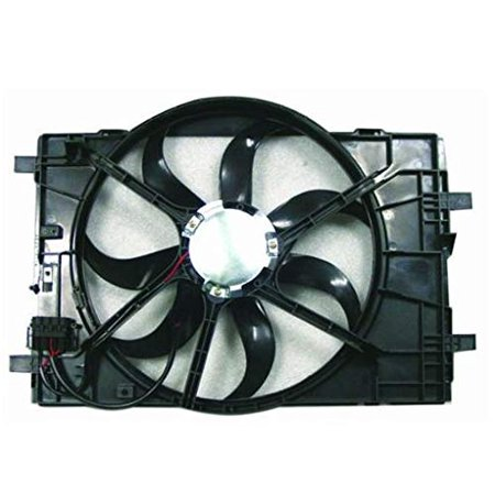 Dual Radiator and Condenser Fan Assembly - Cooling Direct For/Fit 06-09 Ford Fusion 06-07 Mercury Milan 06-06 Lincoln Zephyr/MKZ WITHOUT