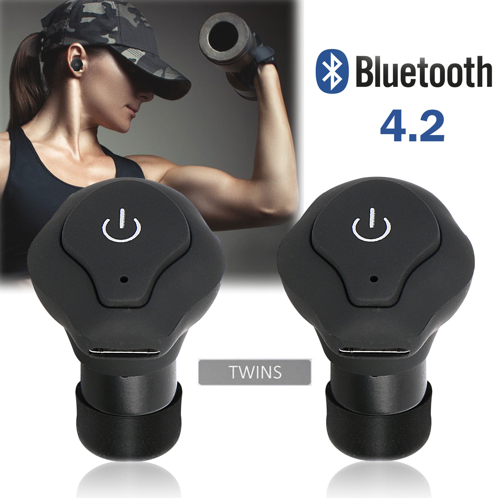Mini Wireless Earbuds, 1-set Bluetooth Earphone Smallest Wireless Invisible Headset Headphone with Mic Hands-free Calling for iPhone and Android Smart Phones