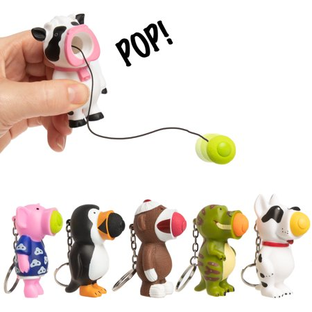 Hog Wild (Set Of 6) Ball Popper Toy Squeeze Push Balls Pop Keychain Party Favors For Kids Toys Adults](Ball Poppers)