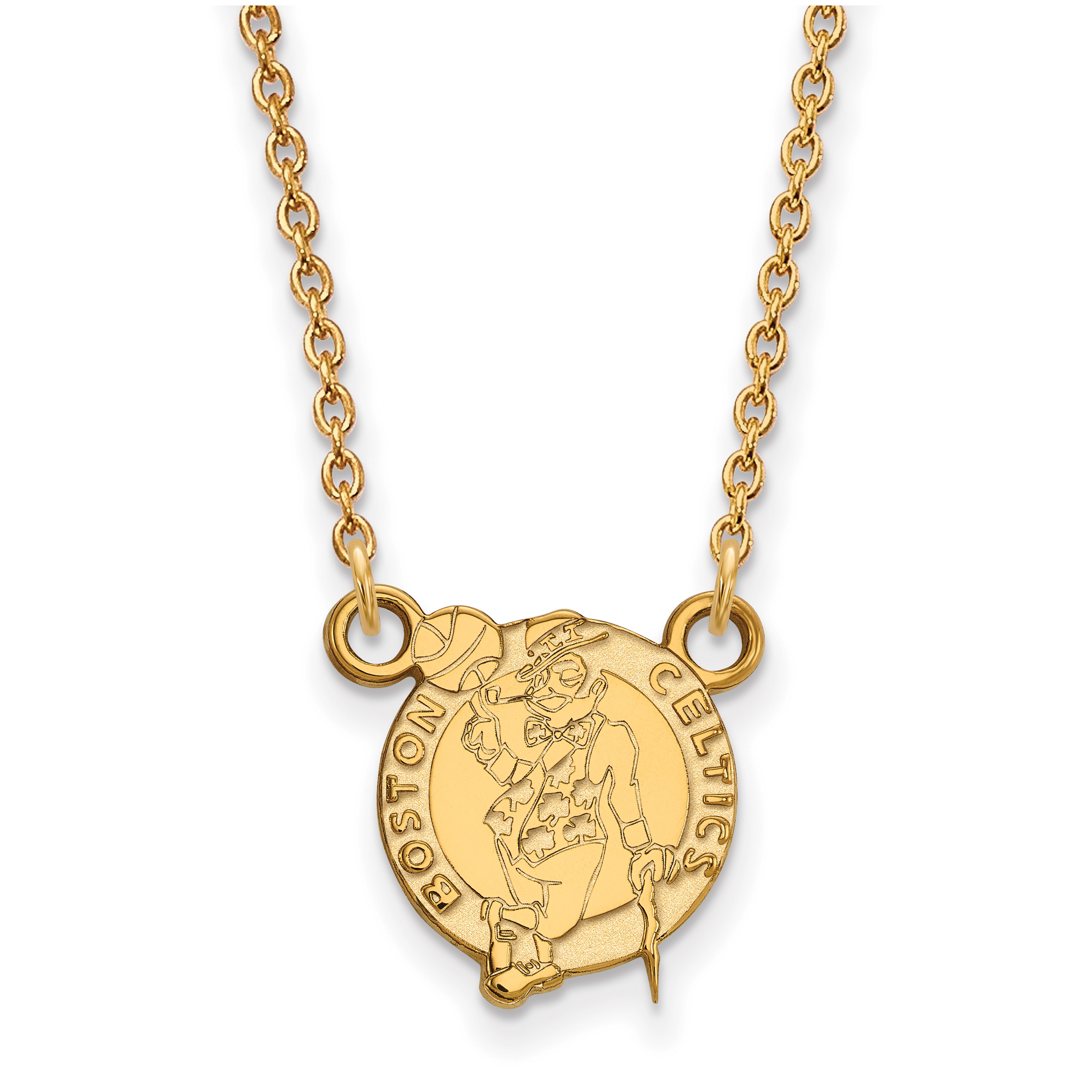 Boston Celtics Women's Gold Plated Pendant Necklace - No Size