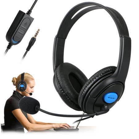 Wired Gaming Headset Headphones with Microphone for PS4 PC Laptop Mac (Computer Telephone Integration)