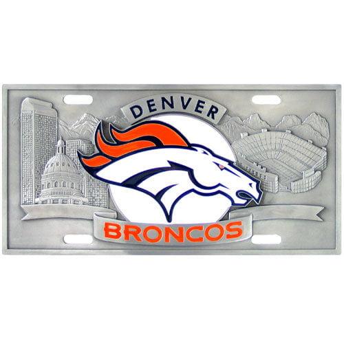 Siskiyou FVP020 Denver Broncos - 3D NFL License Plate