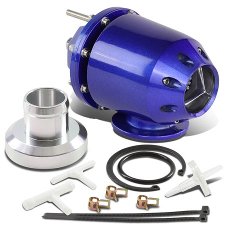 Universal Adjustable 30 PSI SSQV Turbo Blow Off Valve BOV (Blue)