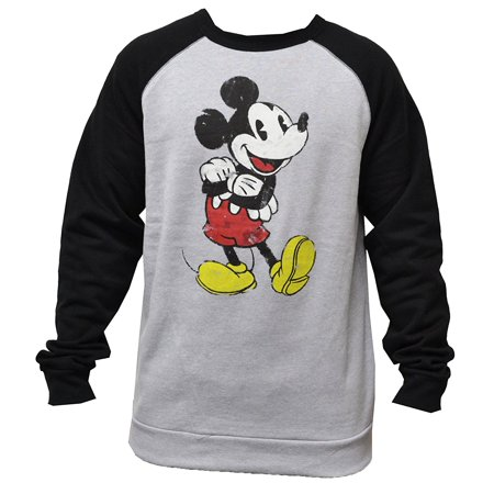 Men's Mickey Mouse Distressed Pullover Sweater Medium W32 for $<!---->