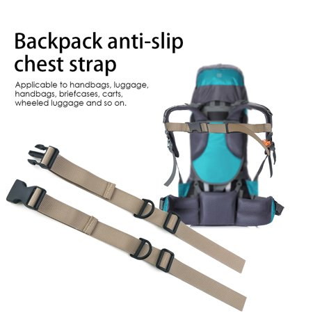 Backpack Chest Strap Heavy Duty Adjustable Backpack Sternum Strap Chest Belt for Hiking and Jogging