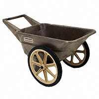 Rubbermaid 565461BLA Heavy-Duty Utility Cart, 200 lb Weight Capacity, Black