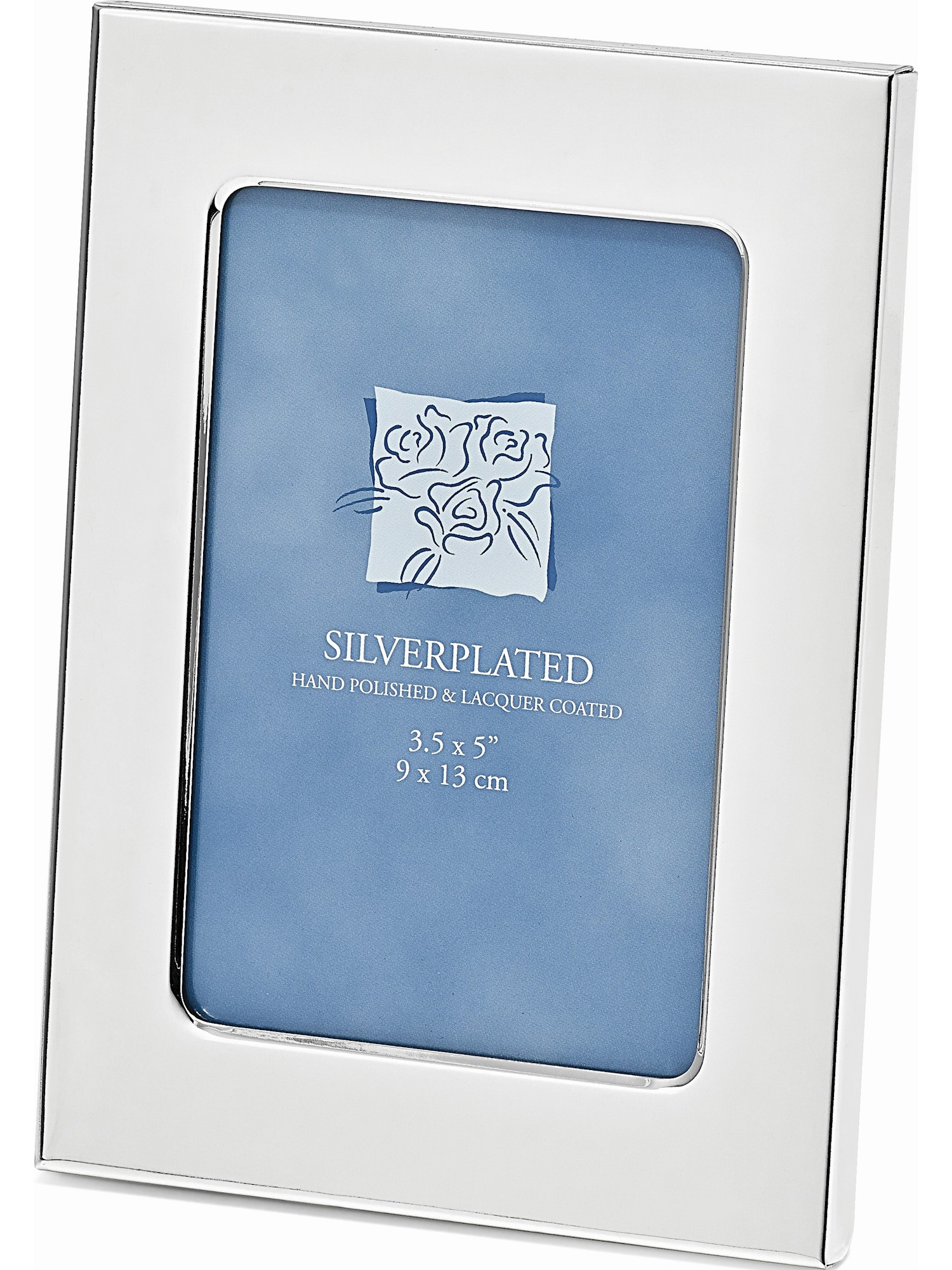 Silver-Plated Classic 3.5X5 Photo Frame Designer Jewelry by Sweet Pea