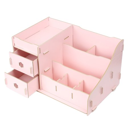 unique bargains cosmetic organizer diy makeup storage box. Black Bedroom Furniture Sets. Home Design Ideas