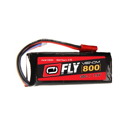 E-flite Nieuport 17 250 30C 2S 800mAh 7.4V LiPo Battery with JST plug by Venom Compare to E-flite EFLB8002SJ30