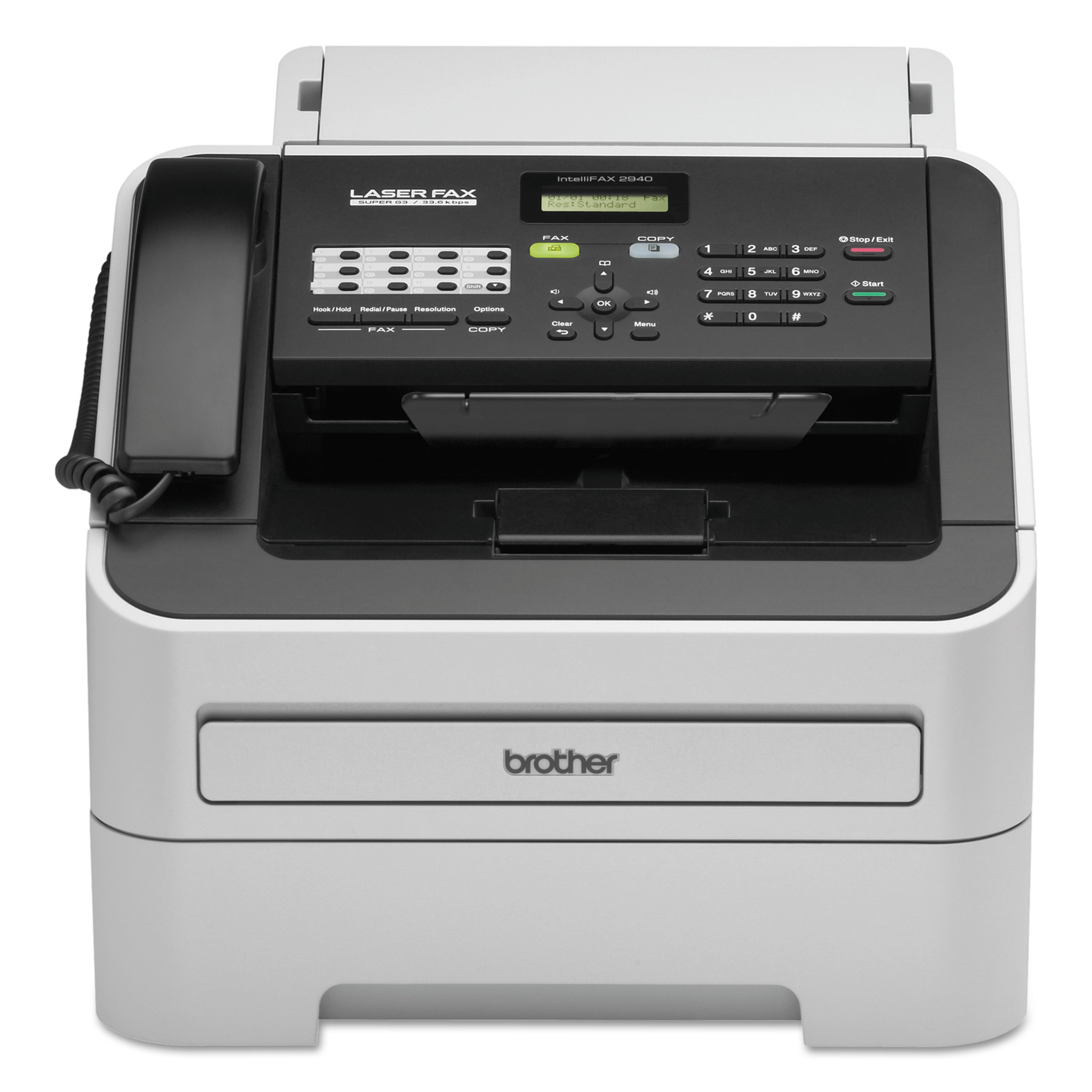 Brother intelliFAX-2940 Laser Fax Machine, Copy Fax Print by Brother
