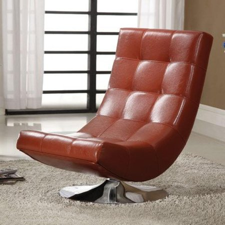 Denny Swivel Lounge Chair Color: Mahogany Red
