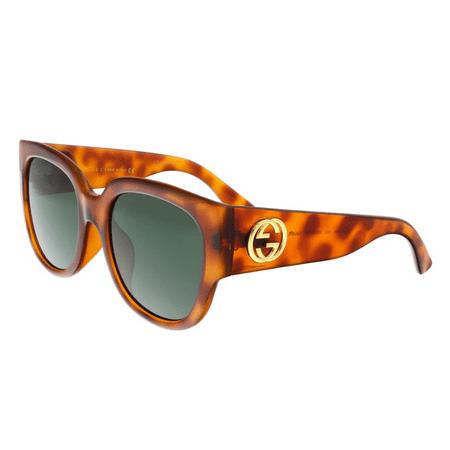gucci gg0142sa 002 havana round sunglasses