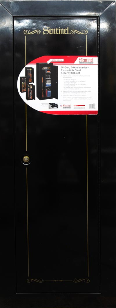 Unique Sentinel 18 Gun Fully Convertible Steel Security Cabinet