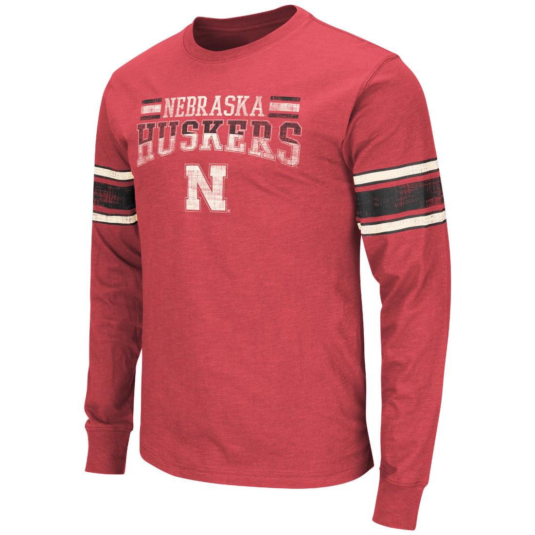 "Nebraska Cornhuskers NCAA ""Gridiron"" Long Sleeve Vintage Slub Men's T-Shirt"