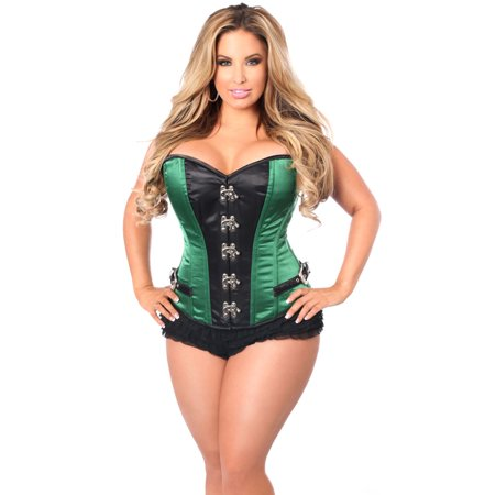 224ae0505 Daisy Corsets - Plus Size Green Buckled Steel Boned Corset