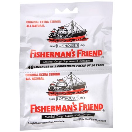 Fisherman's Friend Extra Strong Menthol Cough Suppressant Lozenges, 40