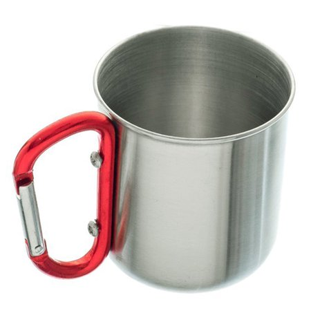 ASR Outdoor 10 fl oz Travel Mug with Carabiner Stainless Steel Camping (Camping Cup)