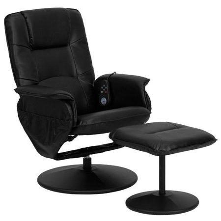 Motor Heated Massage Mat - Latitude Run Leather Heated Massage Chair with Ottoman