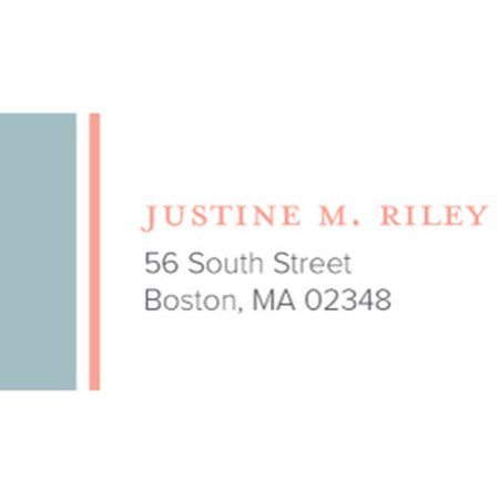Presents Address Labels - Anchor Monogram Personalized Address Label