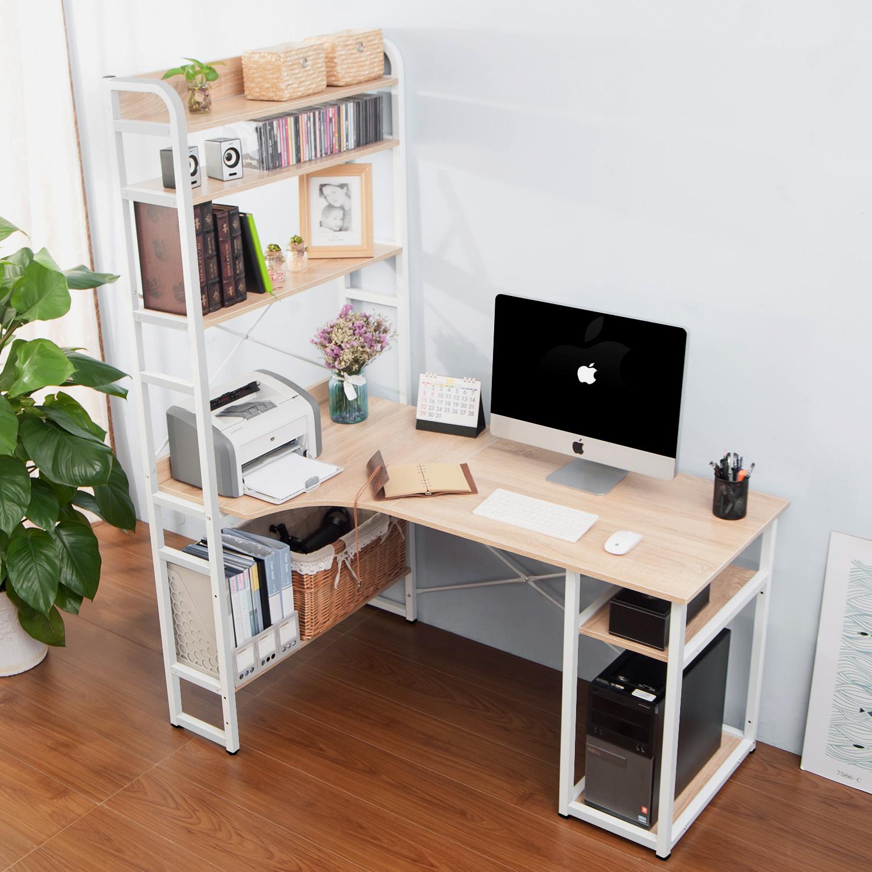 Merax Computer Desk With 5-tier Shelf Workstation Study