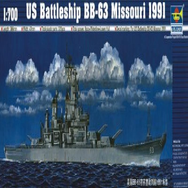 Trumpeter 1/700 USS Missouri BB63 Battleship 1991 Model Kit