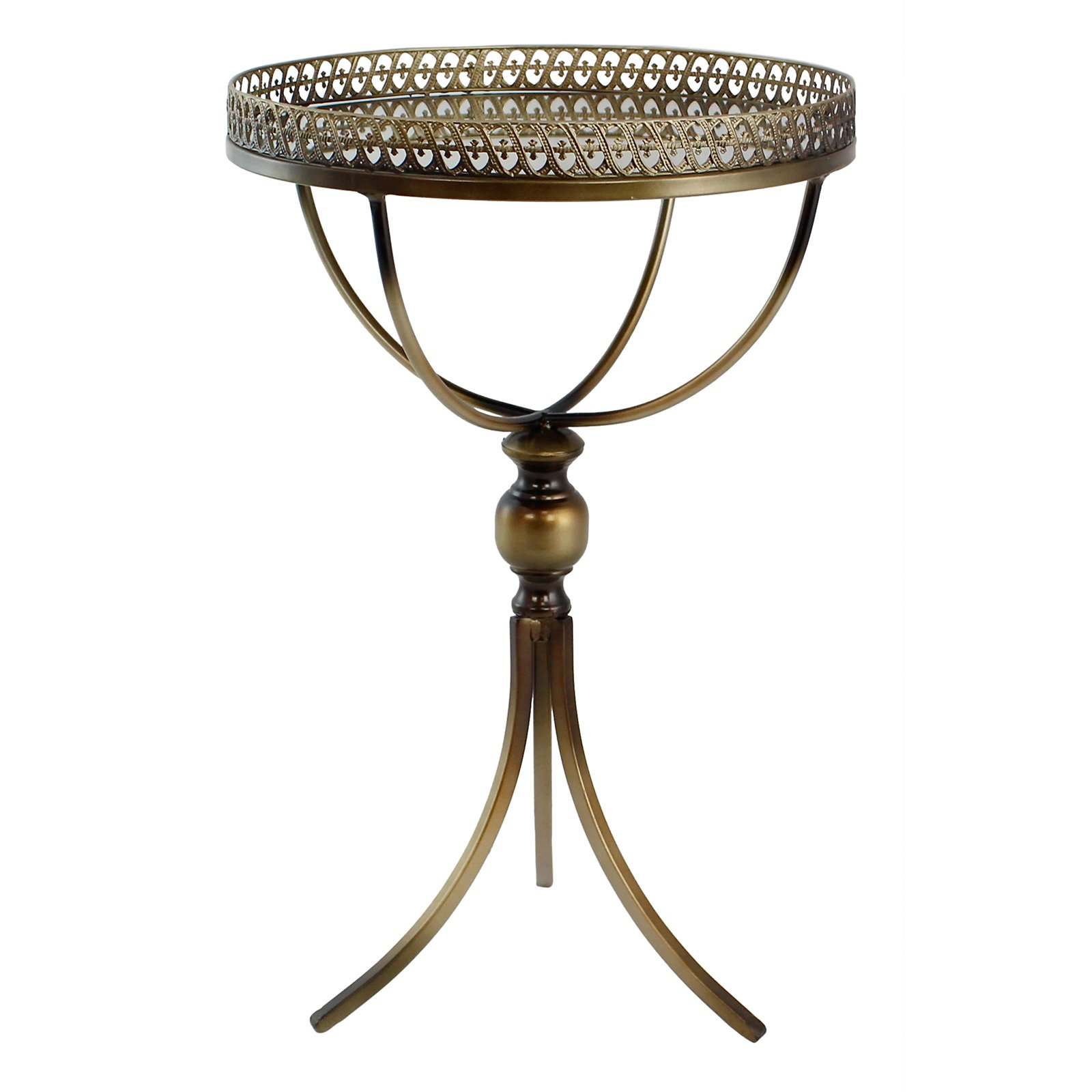 Click here to buy Calico Metal Accent Table by Aspire Home Accents.