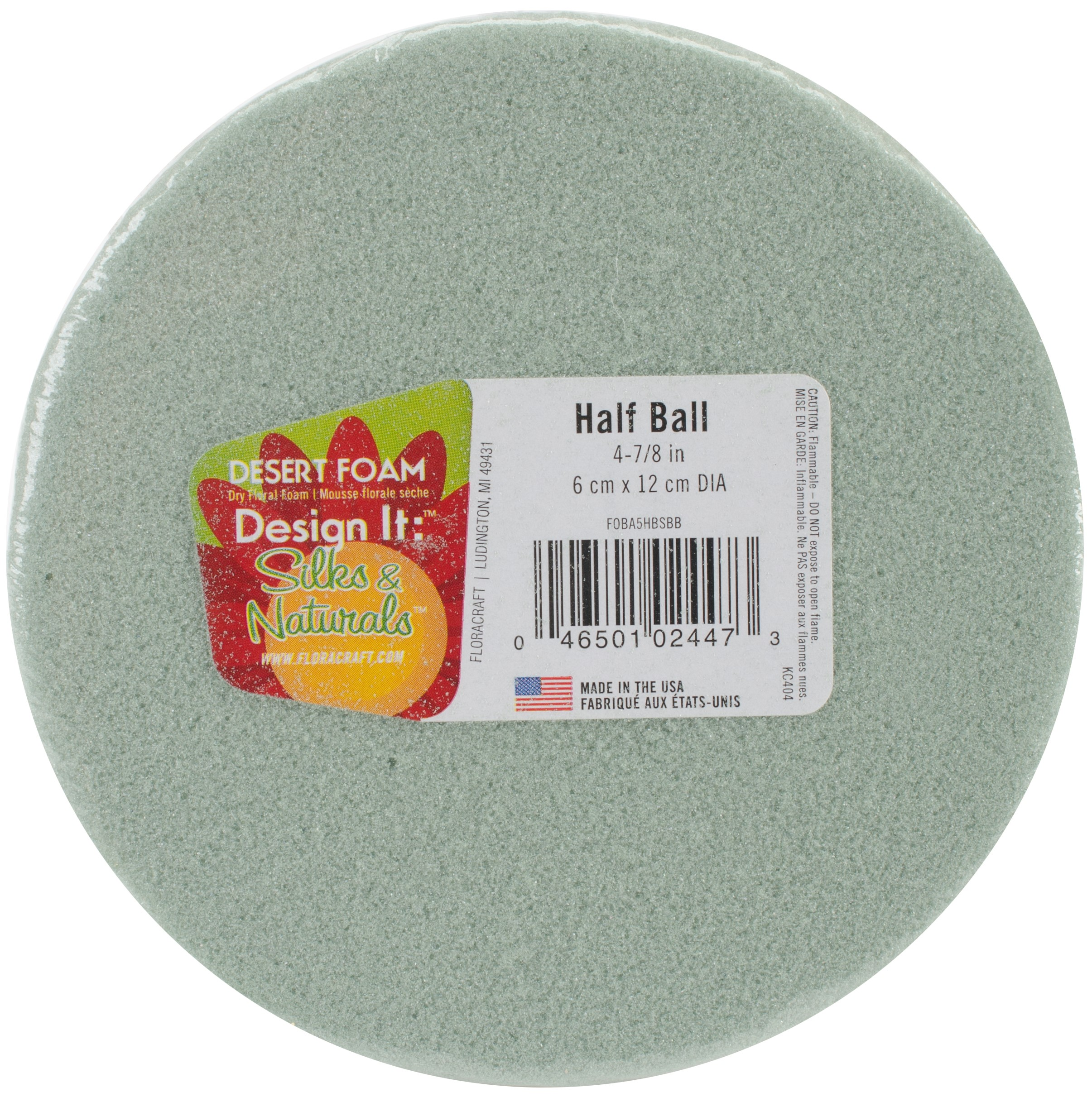 Design It Dry Foam Half Ball 5in Green