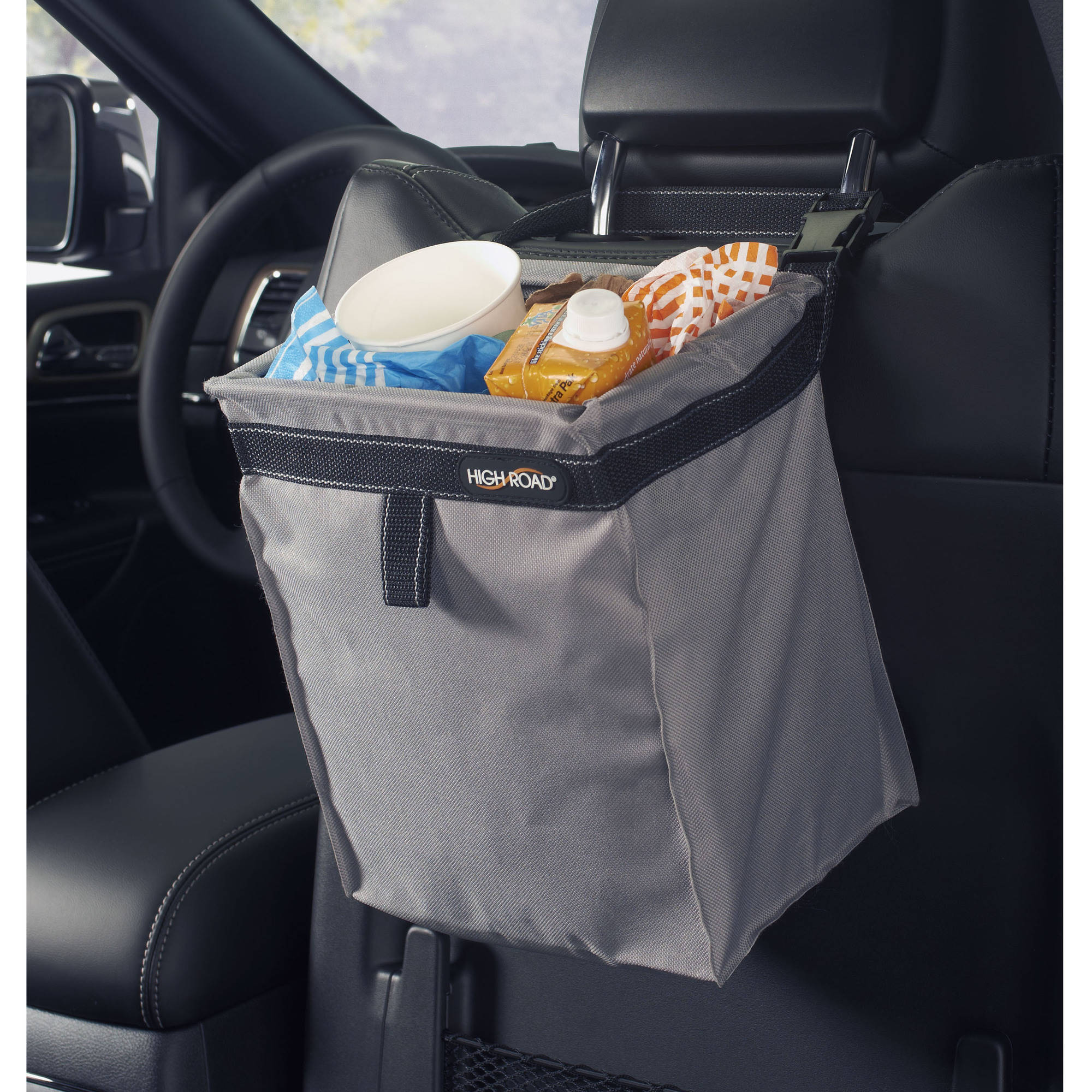 High Road TrashStash Leakproof Car Garbage Bag -Gray
