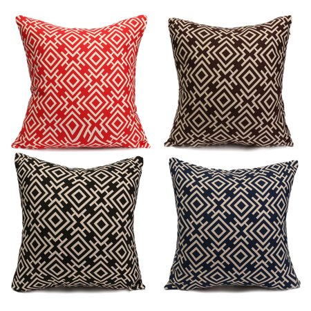 Meigar 18''x18'' Single Print Geometry Decorative Throw Pillow Covers Clearance
