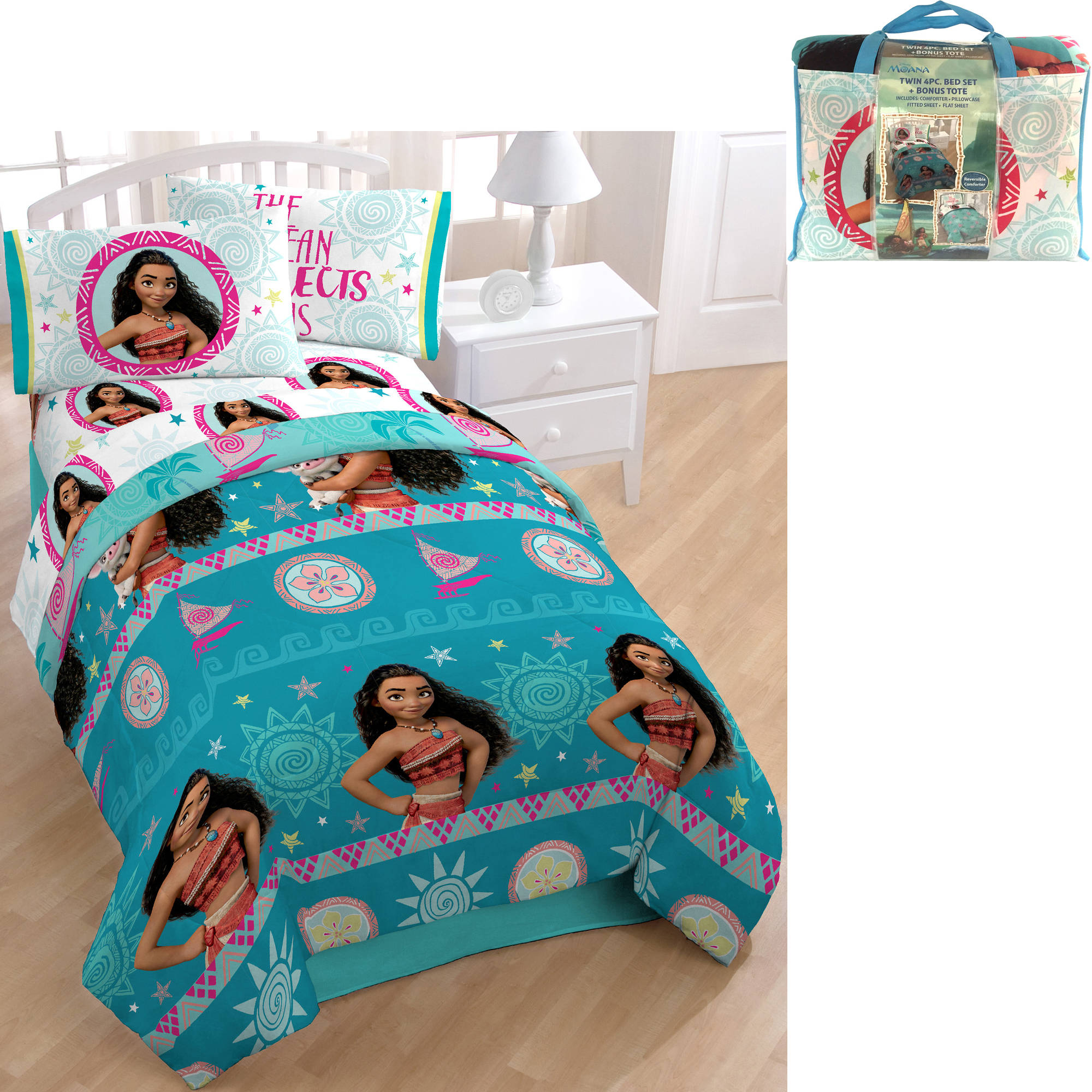 Disney Moana Bed in a Bag 5 Piece Bedding Set with BONUS Tote by Jay Franco