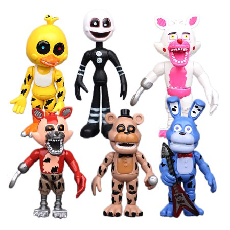 6X Five Nights At Freddys Fnaf Action Figures Bonnie Chica Foxy Bear Chica Toys