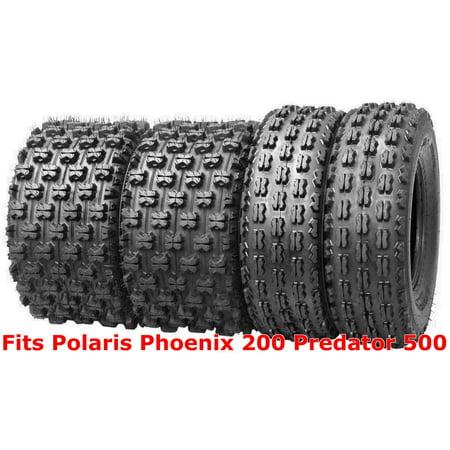 (4) 21x7-10 & 20x10-9 Polaris Phoenix 200 Predator 500 GNCC Racing ATV Tire (Polaris 500 Atv)
