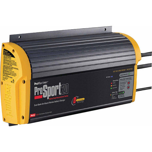 ProMariner ProSport Recreational On-Board Marine Battery Charger, Heavy-Duty
