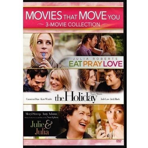 Movies That Move You: Julie & Julia / The Holiday / Eat Pray Love (Widescreen)