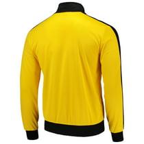 puma men's bvb t7 track jacket, cyber yellow f, l