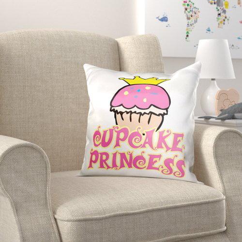 Zoomie Kids Brummett Cupcake Princess Pillow Cover