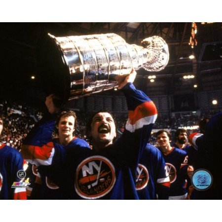 Bryan Trottier - Holding Stanley Cup Photo Print