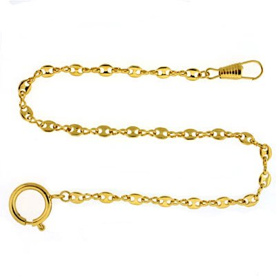 Pocket Watch Chain Fob Link Design Gold-Tone - Pocket Chain