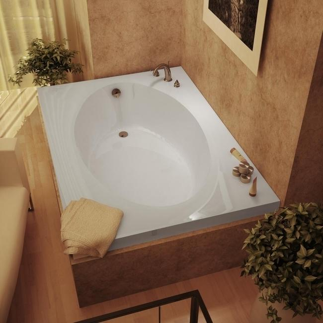 Atlantis Tubs 4384v Vogue 43 X 84 X 23 Inch Rectangular Soaking Bathtub Walmart Com Walmart Com