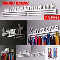 """Keep Running"" Medal Holder Iron Hanger Runner Sport Display Rack Shelf 48cm x15cm (up to hold 36 Medals)"