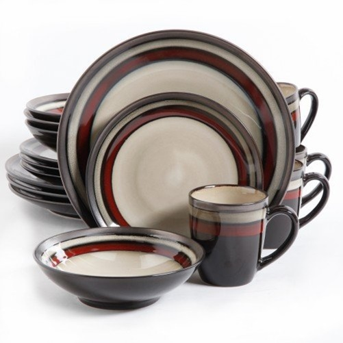Gibson Lewisville 16pc Dinnerware Set - Red