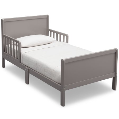 Delta Children Epic Wood Toddler Bed with Attached Guardrails,