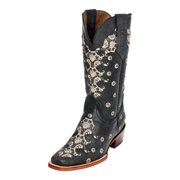Ferrini Western Boots Womens Country Lace Cowboy Heel Gray 82871-49