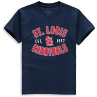 St. Louis Cardinals Soft as a Grape Youth Cotton Crew Neck T-Shirt - Navy