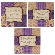 Blossom Bucket Live Life/Follow Your Heart 3 Piece Letter Block Set