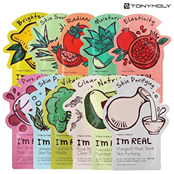 Tony Moly I'M Real Face Mask Set, 11 Ct (Best Korean Face Mask Review)