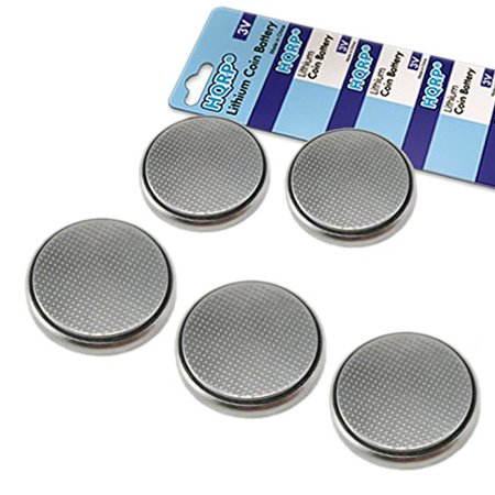 HQRP 5-Pack Coin Lithium Battery for Nissan Pathfinder XE SE LE SUV 1993 1994 1995 Remote Transmitter Keyless Entry Clicker G57NTX318 + HQRP Coaster